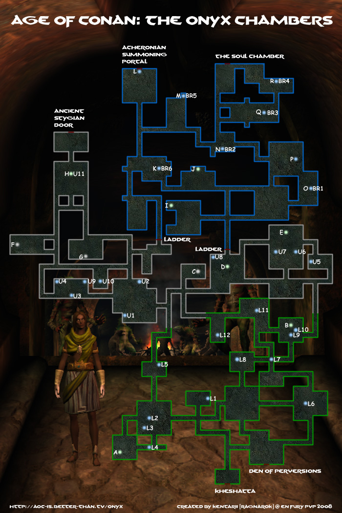 Map of The Onyx Chambers